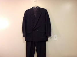 Man's custom made 100% wool 2 piece suit gray British Tailors  Size 44