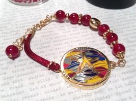 Mandala Starfish Violet Beads Marcella Bracelet Gold Tone Spirit Hope Glow