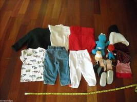 Mixed lot 16 Toddler Boys Clothes Shirts Jacket Pants Hats Shoes Toys 0-3m 3-4T image 2