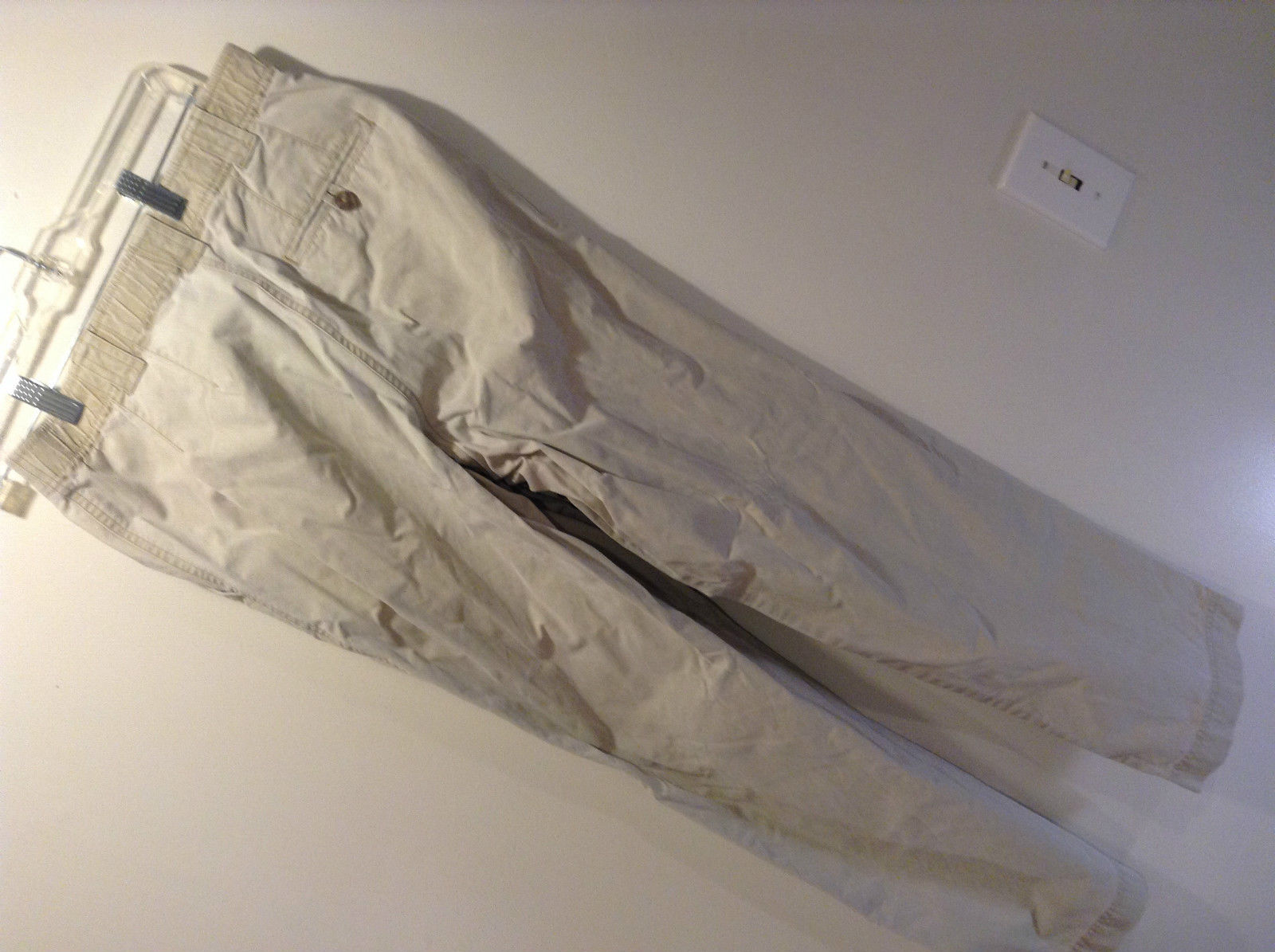Medium Tall L L Bean Khaki Casual Pants Elastic Waist Size 8