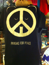 Men style M Brown t-shirt Pandas for Peace first edition