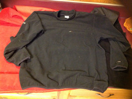 Mens Columbia Fleece Pullover Sweater Black size Large L