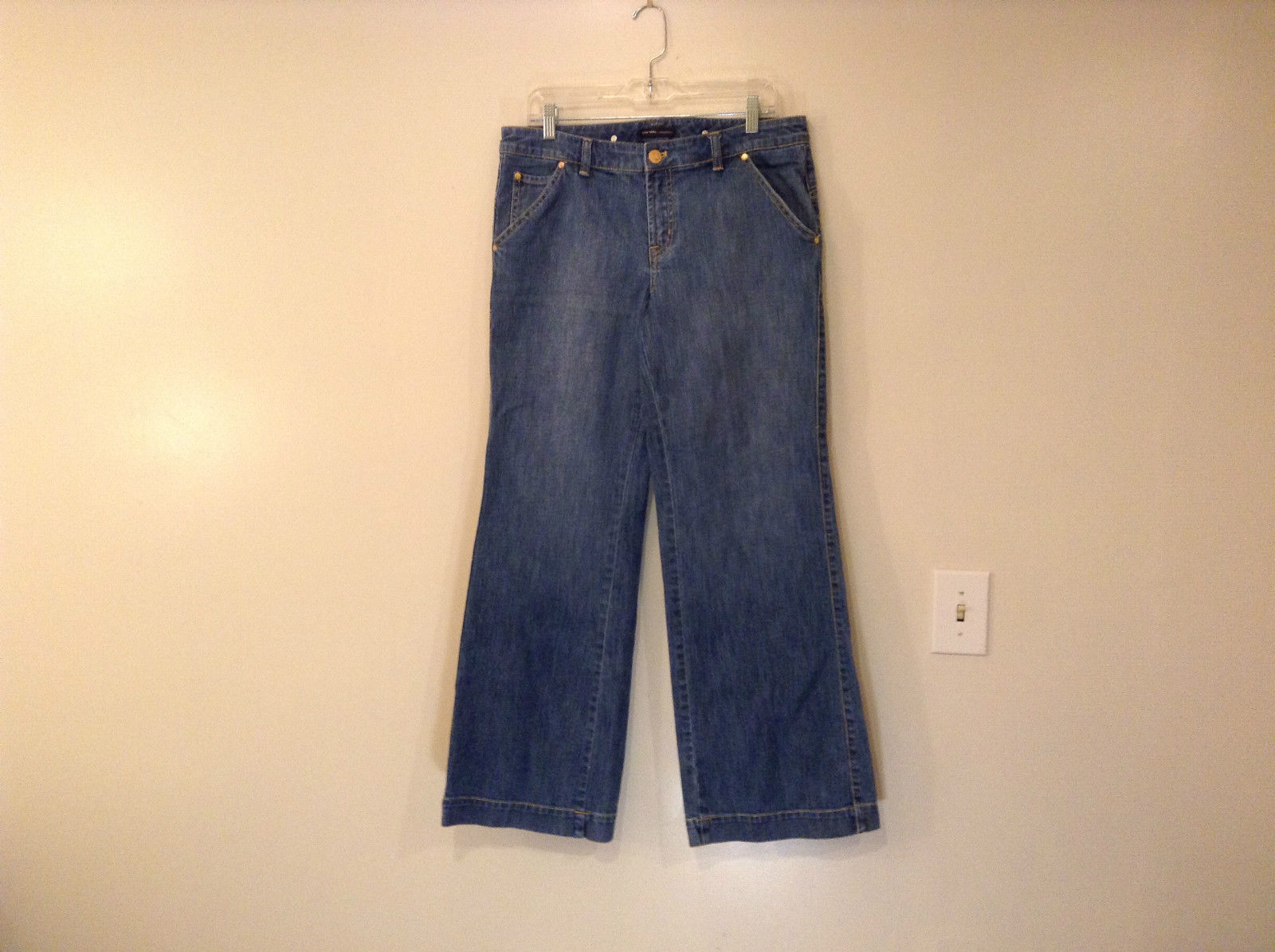 Medium Wash Blue Jeans New York and Company Size 12 Very Good Condition