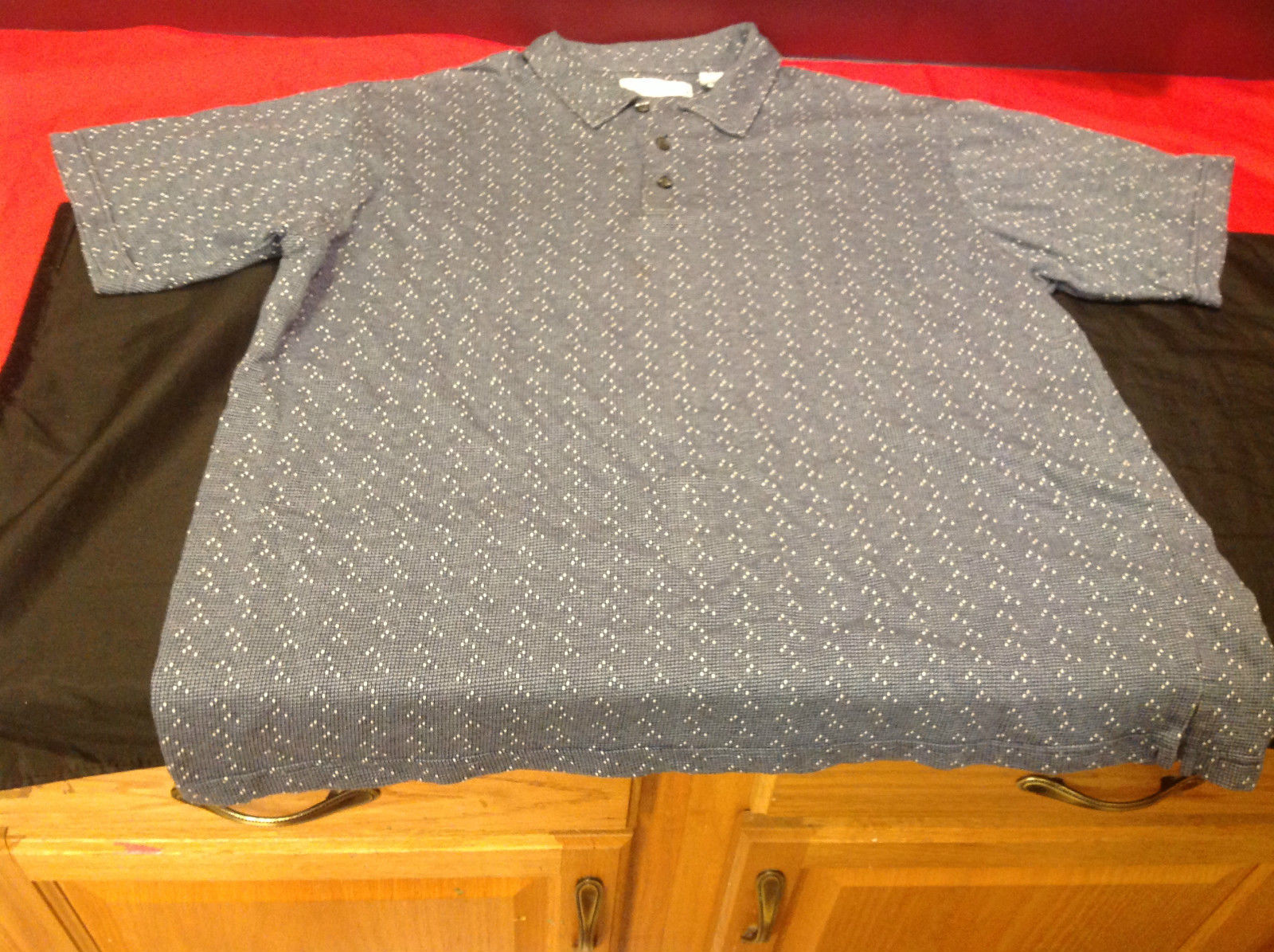 Mens Corporate Gear Blue Gray Polo Shirt Size XL/XG