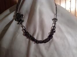 Amethyst Stone Dark Tone Chain Barcelona Style Necklace Very Elegant Design image 6