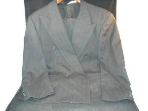 Mens double breasted BUGATCHI pinstripe Terzo Uomo suit