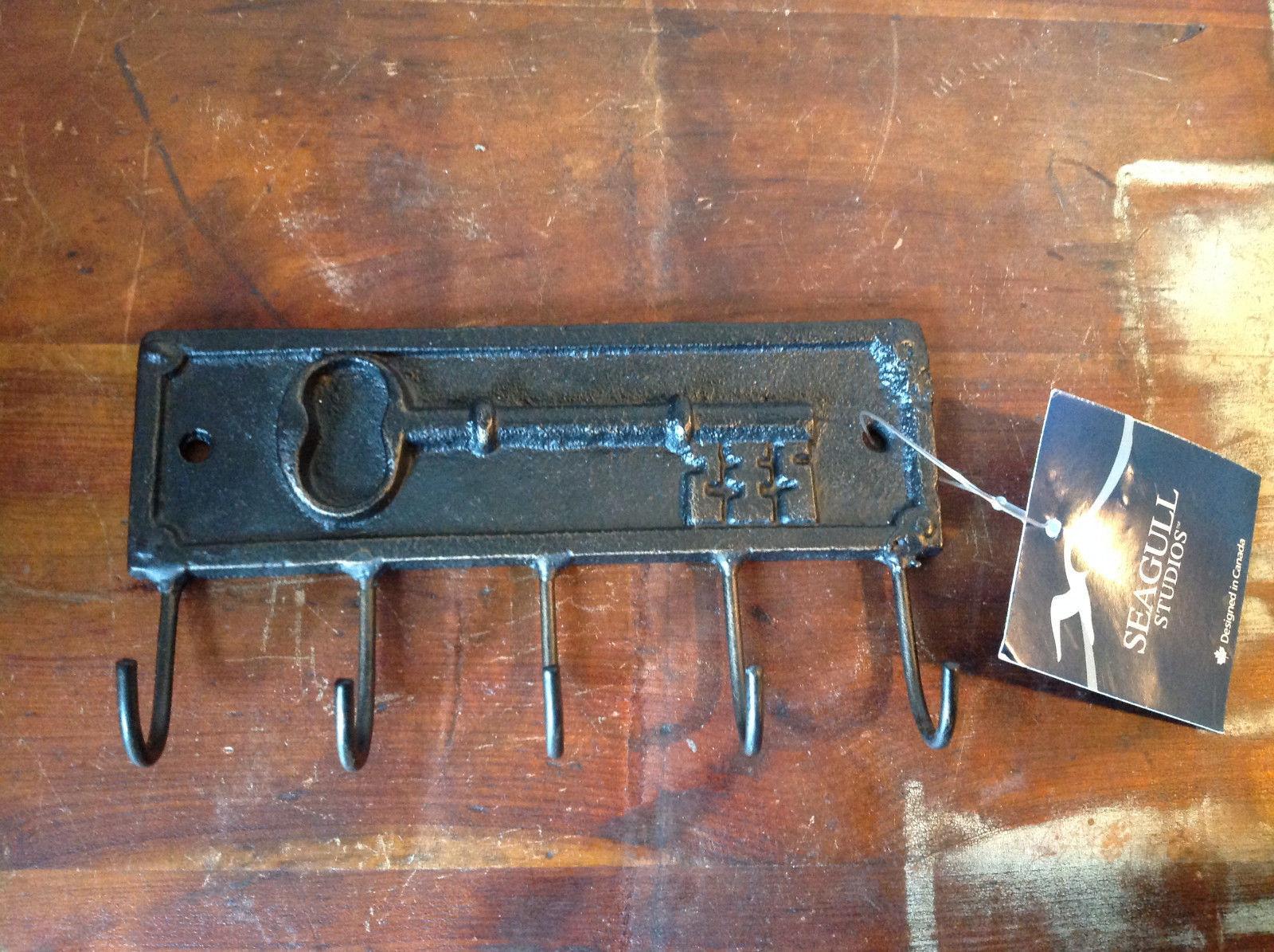 Metal Key Rack with Raised Key Design by Seagull Studies