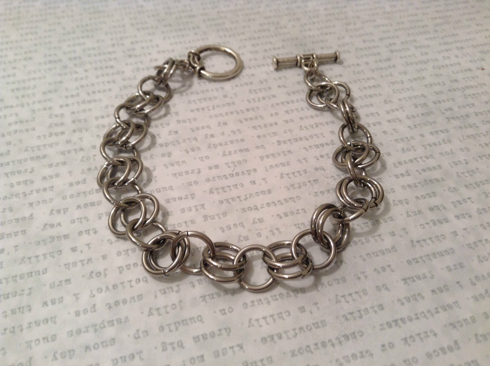 Metal Homemade Ring Bracelet Silver Tone Steam Punk
