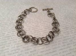 Metal Homemade Ring Bracelet Silver Tone Steam Punk