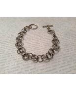 Metal Homemade Ring Bracelet Silver Tone Steam Punk - £30.86 GBP