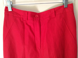 Larry Levine Sport Bright Red Pants Lining is 100 Percent Polyester image 5