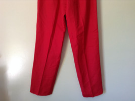 Larry Levine Sport Bright Red Pants Lining is 100 Percent Polyester image 7