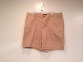 Merona 100 Percent Cotton Size 16 Sand Colored Casual Shorts Light Fabric image 1