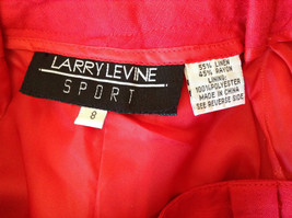 Larry Levine Sport Bright Red Pants Lining is 100 Percent Polyester image 8