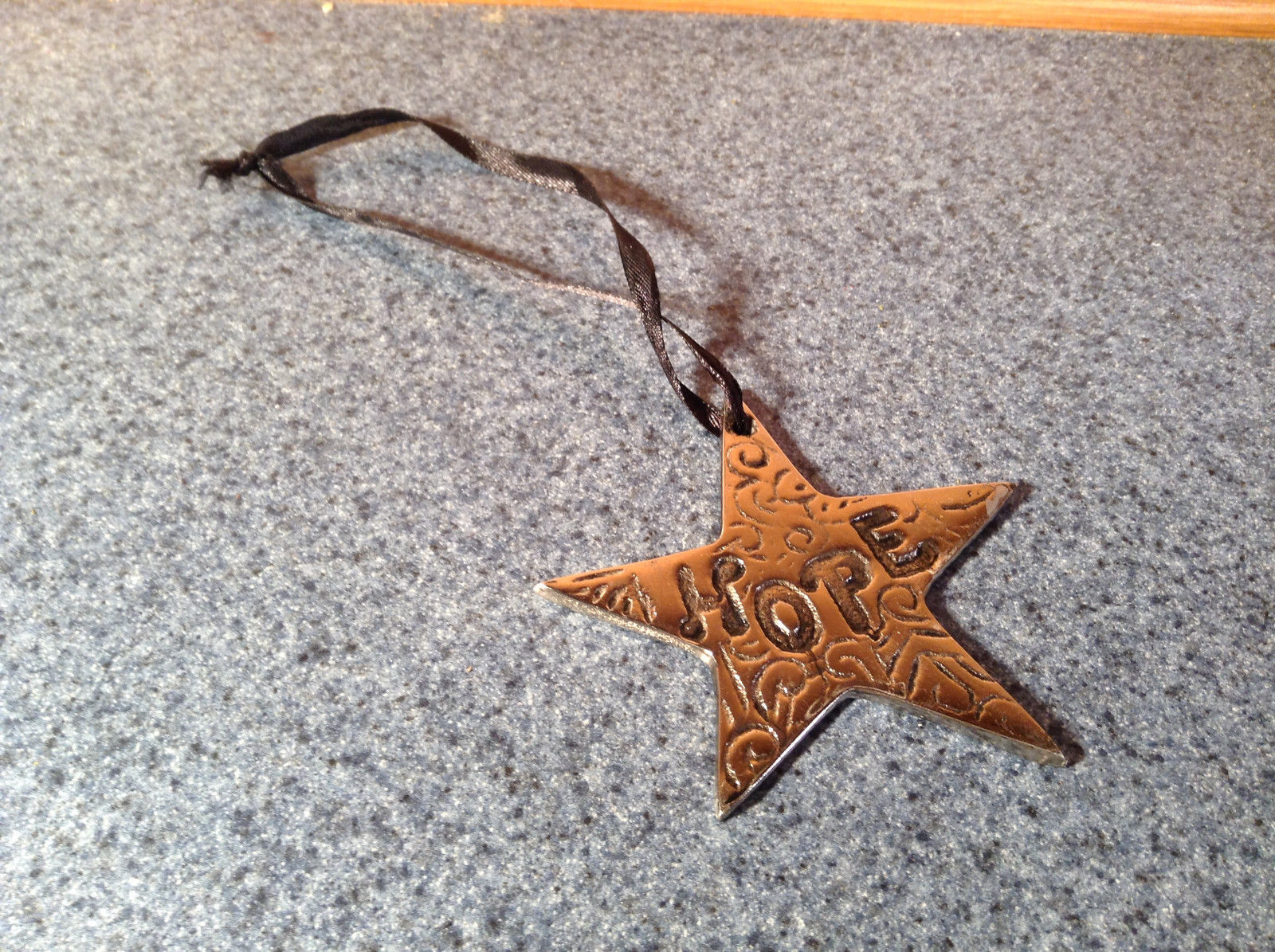 Metal Star Shaped HOPE Medallion Measurements Below