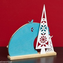 Laser Wood Centerpiece Flourish Woodlands Blue Polar Bear  Centerpiece image 2