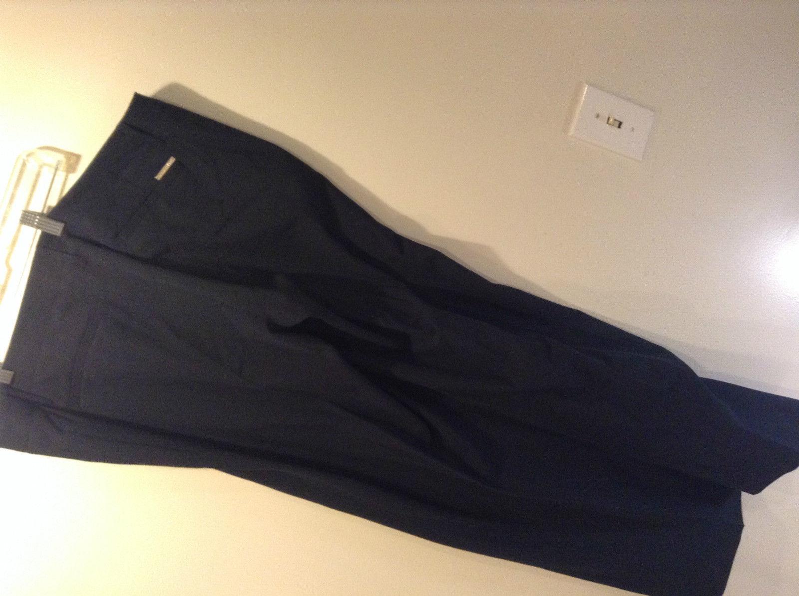 Michael Kors Navy Blue Flat Front Dress Pants Size 16