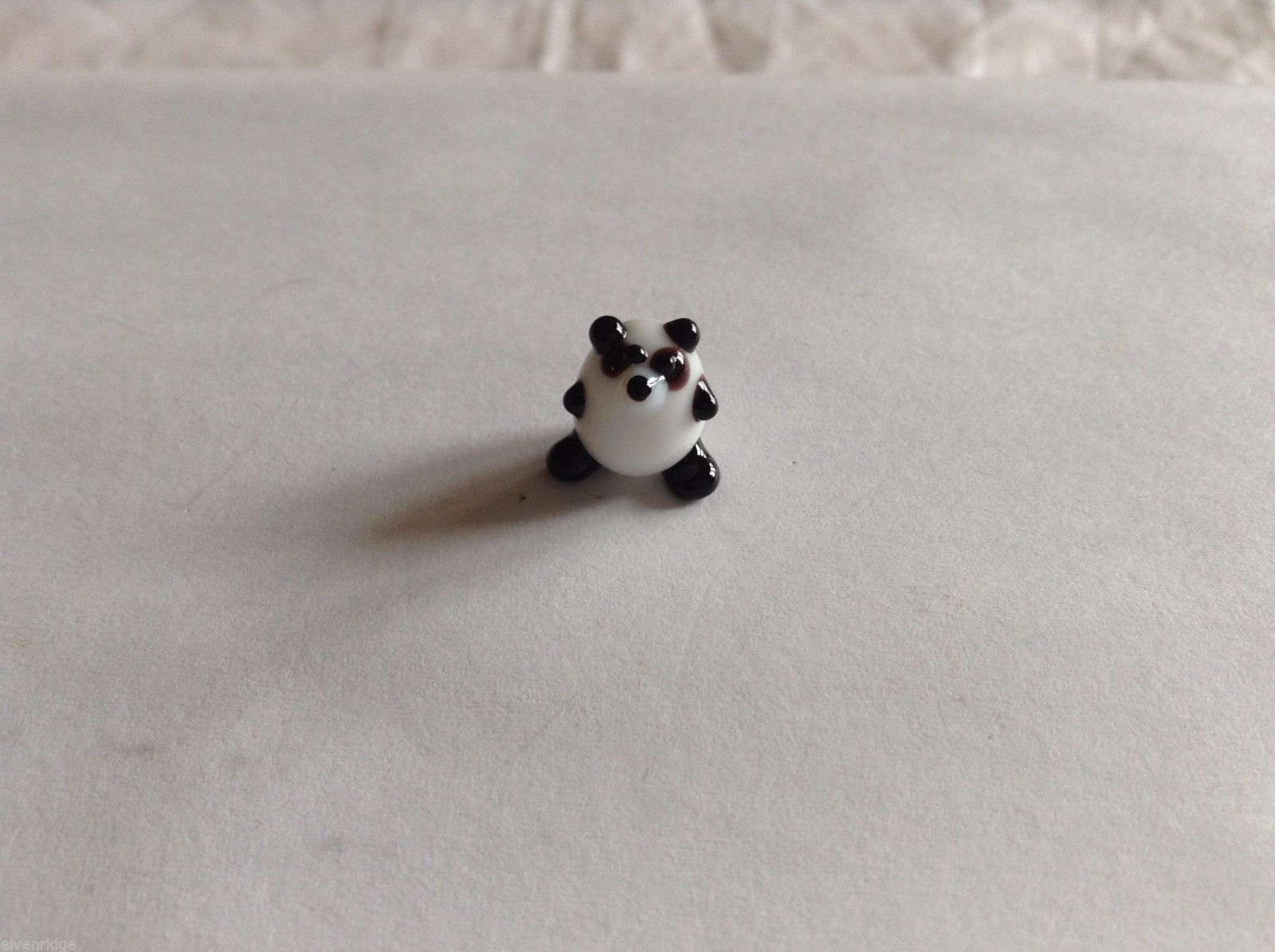 Micro Miniature hand blown glass made USA NIB fat Panda Bear