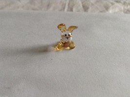Micro Miniature hand blown glass made USA NIB clear and tan bunny
