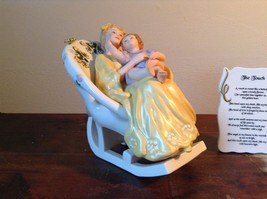 Mother with Child in Rocking Chair Porcelain Figurine The Touch by Vivi image 3
