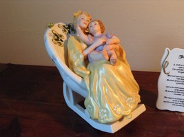 Mother with Child in Rocking Chair Porcelain Figurine The Touch by Vivi image 2