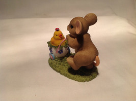 Mouse Pushing Cart Charming Tails Figurine Taking a Stroll with My Cute Chick image 8