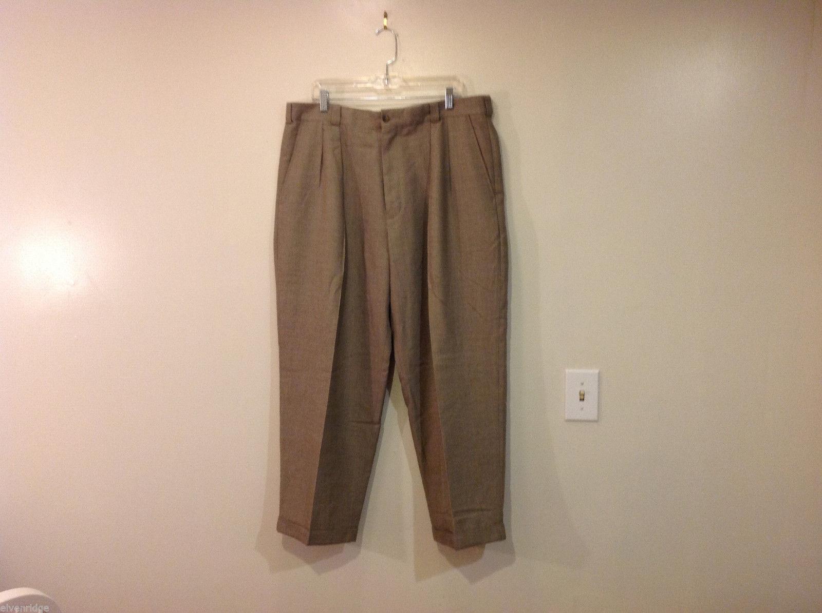 Perry Ellis Mens Classic Brownish Gray Dress Pants, Size 40/30