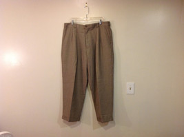 Perry Ellis Mens Classic Brownish Gray Dress Pants, Size 40/30