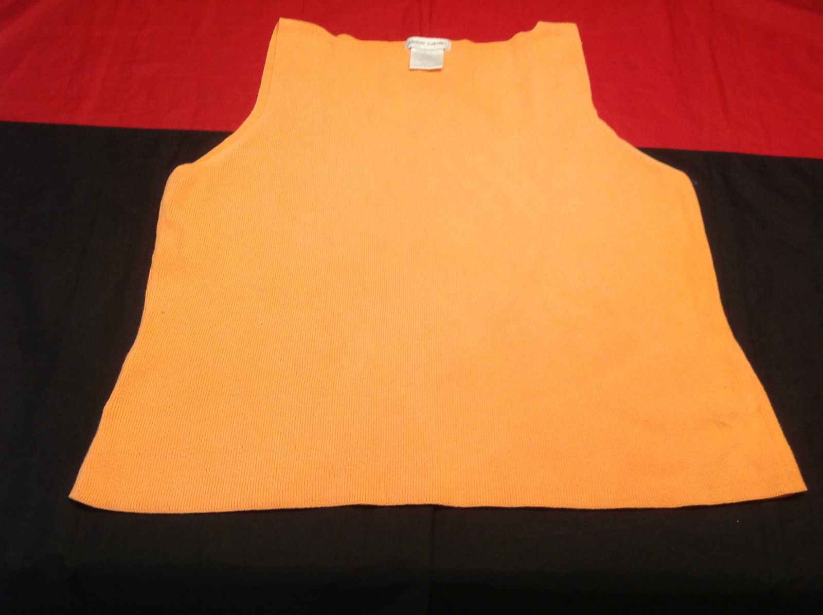 Pierre Cardin Ladies Orange Colored Sleeveless Top Size XL