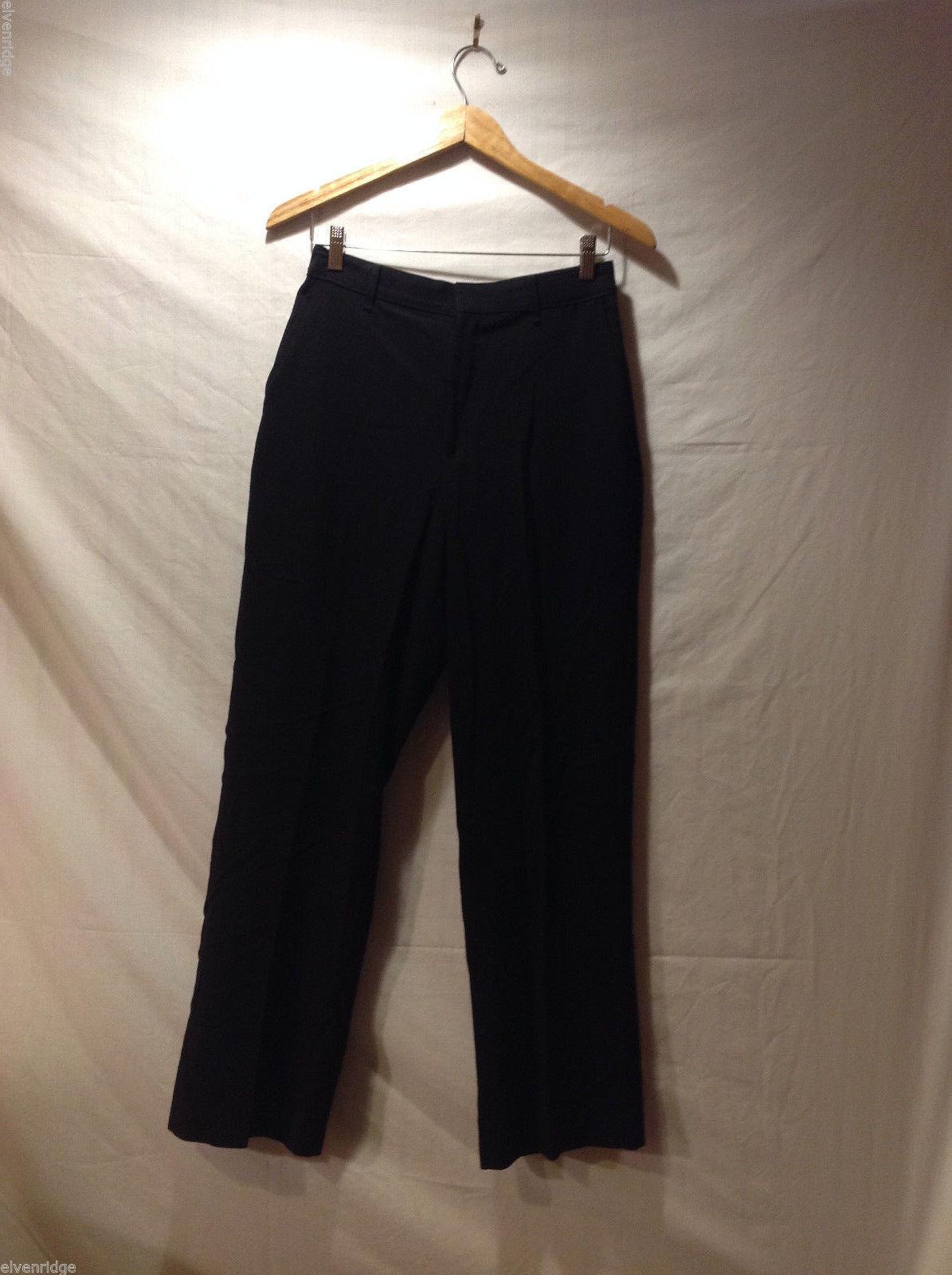 Perry Ellis Mens Classic Black Dress Pants, Size 20R