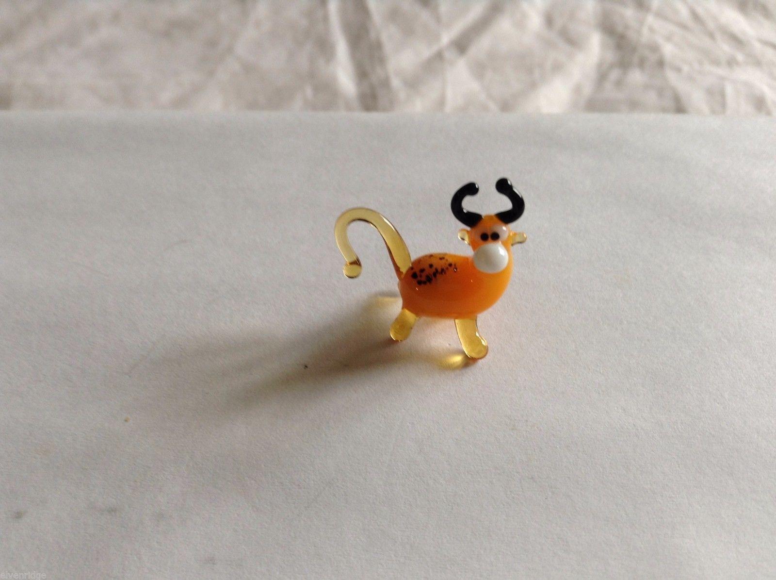 Micro Miniature small hand blown glass made USA NIB Bull