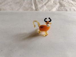 Micro Miniature small hand blown glass made USA NIB Bull image 1