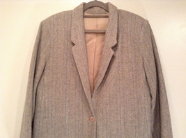 Laura Size 12 Gray Lined Blazer 1 Button Closure Pockets Excellent Condition image 2
