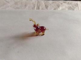 Micro Miniature small hand blown glass made USA NIB min brown  elephant image 1