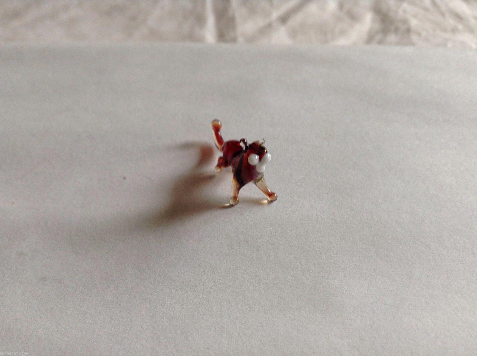 Micro Miniature small hand blown glass made USA NIB  multi colored lion