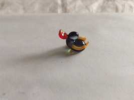 Micro Miniature small hand blown glass made USA NIB red purple yellow duck