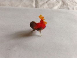 Micro Miniature small hand blown glass made USA NIB rooster