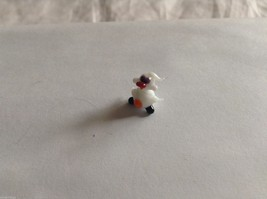 Micro Miniature small hand blown glass made USA NIB white duck w black feet image 1