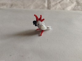 Micro Miniature small hand blown glass made USA NIB white & red parrot cockatoo image 1