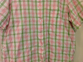 Alfred Dunner Woman Summer 100% Cotton Short Sleeve Plaid Shirt, Size 18W image 4