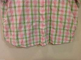 Alfred Dunner Woman Summer 100% Cotton Short Sleeve Plaid Shirt, Size 18W image 5