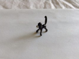Micro Miniature small hand blown glass made USA black monkey on all fours image 1