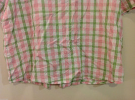 Alfred Dunner Woman Summer 100% Cotton Short Sleeve Plaid Shirt, Size 18W image 8