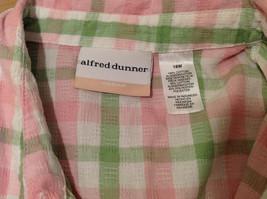Alfred Dunner Woman Summer 100% Cotton Short Sleeve Plaid Shirt, Size 18W image 9