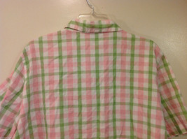 Alfred Dunner Woman Summer 100% Cotton Short Sleeve Plaid Shirt, Size 18W image 7