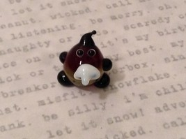 Micro miniature hand blown glass figurine Potato Head USA NIB image 1