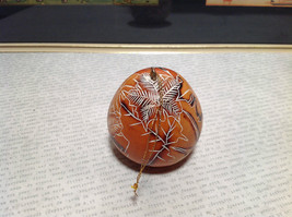 Leaves Hand Carved Art Ornament Peruvian Gourd Eco Sustainable Fair Trade image 3