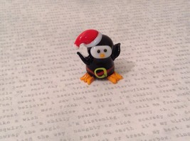 Micro miniature hand blown glass Penguin In Christmas Hat USA NIB