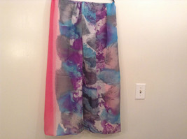 NEW Blue and Pink Shibori Tie Dye Scarf by MAD 100 Percent Polyester image 3