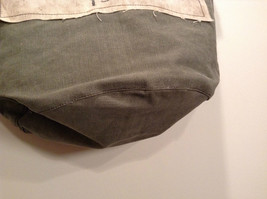 NEW 100% Recycled Cotton Khaki with Brown Straps Shoulder Bag image 4